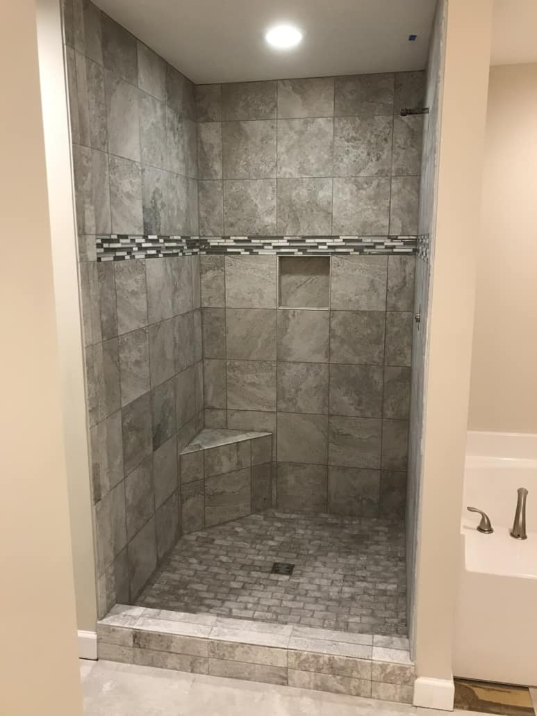 Custom Tile Shower Bridgeport Ohio Riley Home Remodel