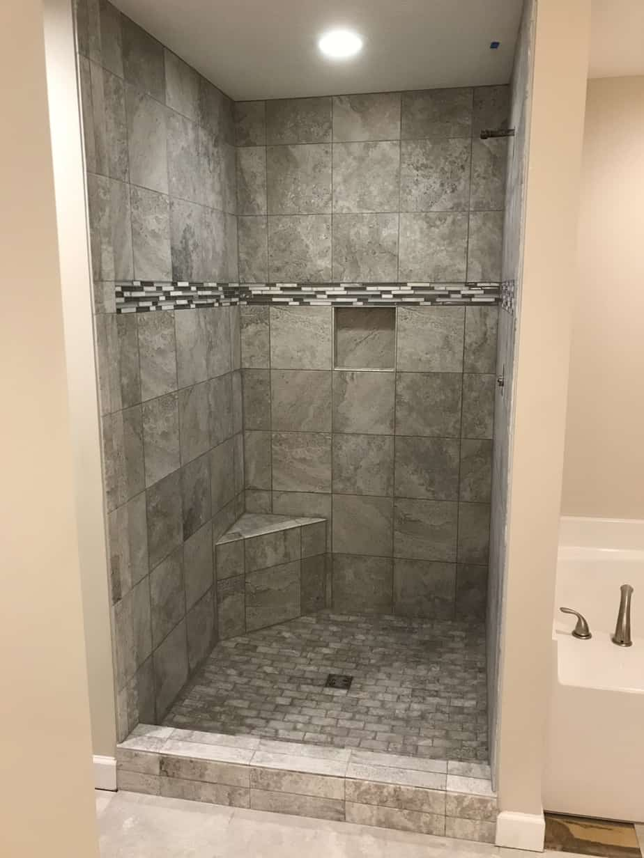 Vinyl Tile Installation >> Custom Tile Shower – Bridgeport, Ohio – Riley Home Remodel