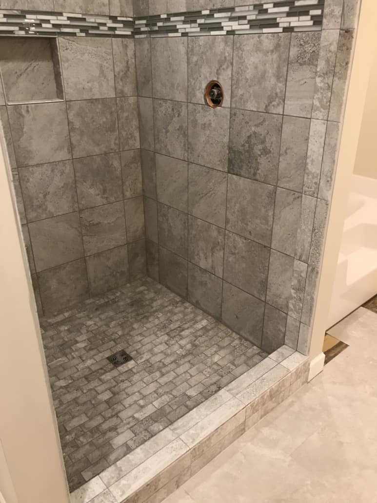 Custom Tile Shower - Bridgeport, Ohio - Riley Home Remodel