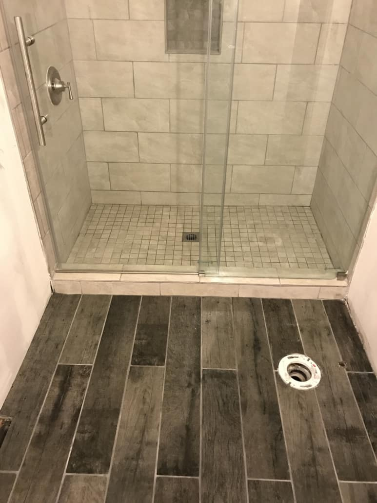 Custom Tile Shower And Floor Tile Medina Ohio Riley Home Remodel